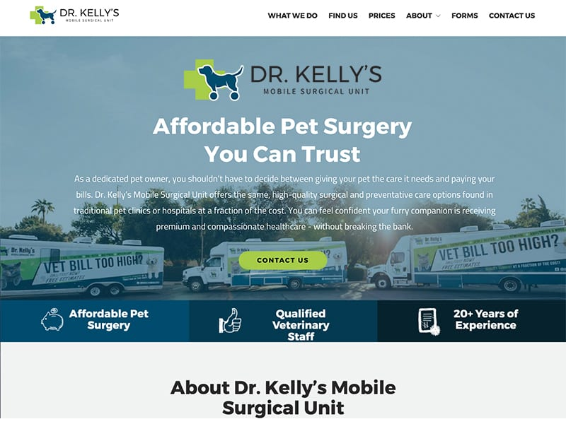 Dr  Kelly's Mobile Surgical Unit   Affordable Pet Surgery